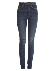 Saint Laurent High Rise Skinny Leg Jeans