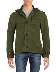 G Star Hooded Utility Jacket Green