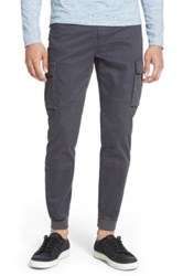 Vince Twill Cargo Jogger Pants Gray
