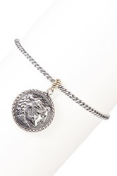 Dani G Jewelry 14K Yellow Gold And Sterling Silver Roman Coin Charm Bracelet Metallic