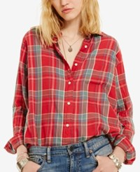 Denim And Supply Ralph Lauren Plaid Boyfriend Shirt Barnet Plaid
