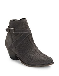 Free People Ventura Textured Ankle Boots Charcoal Grey