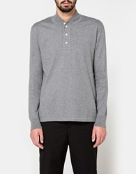 Beams Plus B Trapper Henley In Charcoal Grey