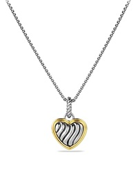 David Yurman Cable Collectibles Heart Charm With Gold Silver Yellow Gold