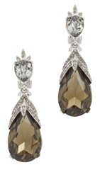 Oscar De La Renta Bold Teardrop Earrings Black Diamond