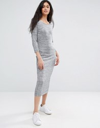 Only Grey Marl Maxi Dress Light Grey Melange
