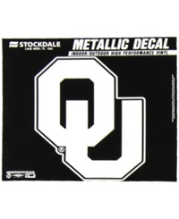Stockdale Oklahoma Sooners 3X6 Metallic Decal Crimson