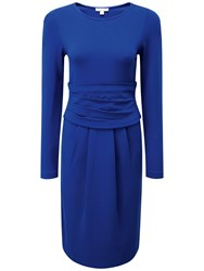 Pure Collection Maria Gathered Dress Sapphire Blue