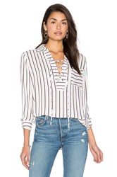 Wayf Dean Lace Up Blouse White