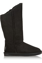 Australia Luxe Collective Cosy Shearling Lined Suede Boots Black
