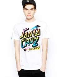 Santa Cruz Skate T Shirt White
