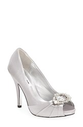 Nina Women's 'Elvira' Peep Toe Pump Royal Silver