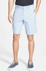 Tommy Bahama 'Hana Highway Plaid' Flat Front Shorts Surly Blue