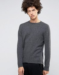 Selected Homme Plus Crew Neck Knit Grey Melange