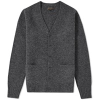 Beams Plus Stretch Knit Cardigan Grey
