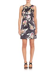 Phoebe Couture Floral Dress Black Multi
