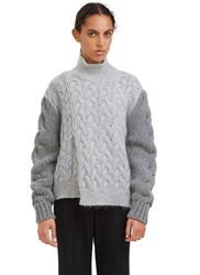 Stella Mccartney Chunky Stitched Roll Neck Sweater Grey