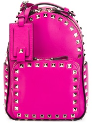 Valentino Garavani Mini 'Rockstud' Backpack Pink And Purple