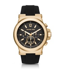 Michael Kors Dylan Gold Tone And Silicone Watch