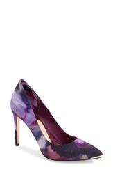 Ted Baker Women's London 'Neevo' Pointy Toe Pump Cosmic Bloom Satin