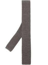 Eleventy Knitted Tie Grey