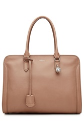 Alexander Mcqueen Leather Tote Brown