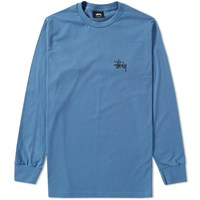 Stussy Long Sleeve Basic Tee Grey