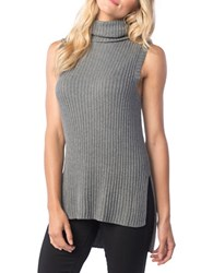 Kensie Ribbed Sleeveless Sweater Grey