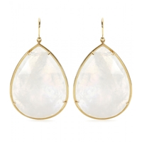 Irene Neuwirth 18Kt Yellow Gold Rainbow Moonstone Earrings