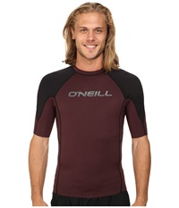 O'neill Hammer Short Sleeve Crew Myers Black White Men's Swimwear Brown