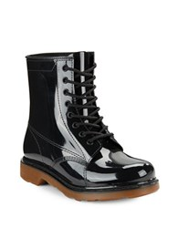 Design Lab Lord And Taylor Rubber Ankle Rain Boots Black