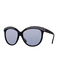 Italia Independent I Lux Matte Cat Eye Sunglasses Black