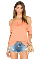 Ella Moss Stella Cold Shoulder Top Peach