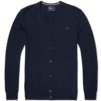 Fred Perry Classic Tipped Cardigan Dark Carbon