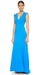 Zac Posen Sleeveless Gown Ultramarine