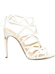 Alexandre Birman Stiletto Sandals White