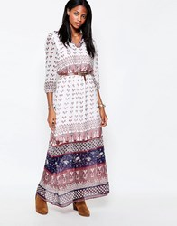 Only 3 4 Sleeve Boho Maxi Dress Cloud Dancer White