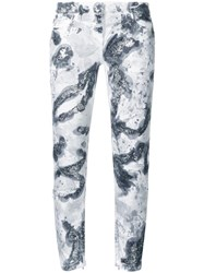 Faith Connexion Glitter Embellished Skinny Jeans White