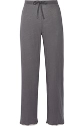 Skin Layered Pima Cotton Pajama Pants Dark Gray