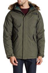 The North Face Mount Logan Faux Fur Trim Parka Green
