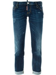 Dsquared2 'Pat' Cropped Jeans Blue