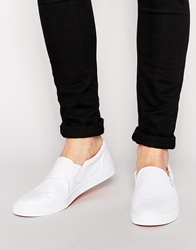 Asos Slip On Plimsolls With Floral Lining White