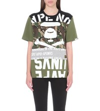 Aape By A Bathing Ape Contrast Cotton Jersey T Shirt Kahiki