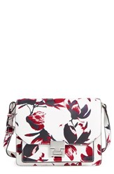 Ivanka Trump 'Hopewell' Print Leather Shoulder Bag Pink Painted Petal