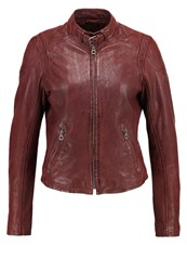 Gipsy Sandy Leather Jacket Chestnut Cognac