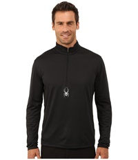 Spyder Silver Dip Dry W.E.B. T Neck Black Men's Long Sleeve Pullover