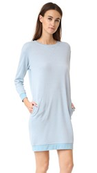 Atm Anthony Thomas Melillo Sweatshirt Dress Pale Blue Heather