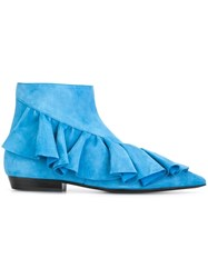 J.W.Anderson Ruffled Detail Boots Blue