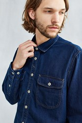 Cpo Crepe Twill Denim Western Shirt Rinsed Denim