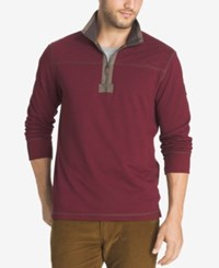 G.H. Bass And Co. Men's Zip Up Pullover Rhubard Heather